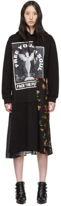 McQ Black Hybrid Hoodie Dress
