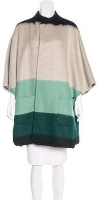 Akris Punto Wool Colorblock Cape w/ Tags
