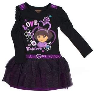 Dora the Explorer Love to Explore Long Sleeve Tutu Dress