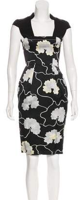 HUGO BOSS Boss by Printed Midi Dress