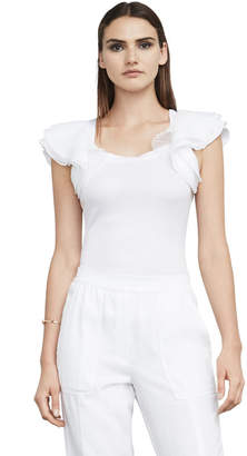 BCBGMAXAZRIA Mirabelle Layered-Sleeve Top