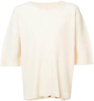 Issey Miyake Homme Plissé ribbed short-sleeve sweater
