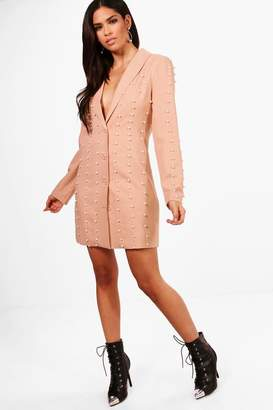 boohoo Boutique Pearl Blazer Dress