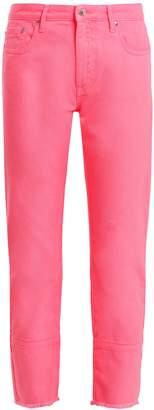 MSGM High-rise straight-leg jeans