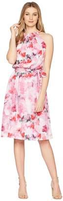 Adrianna Papell Short Printed Halter Dress Women's Dress