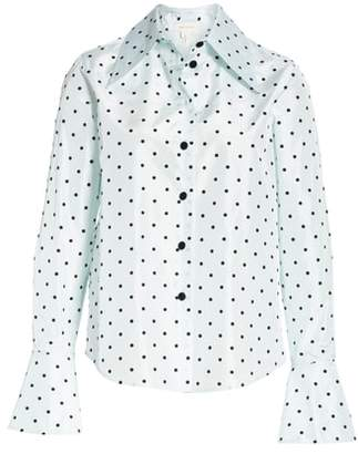 Marc Jacobs Dot Print Silk Shirt
