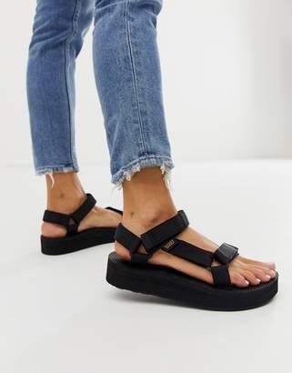 b79c54e54c7 Teva midform universal chunky sandals in black