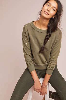 Sundry Metallic Splatter Sweatshirt