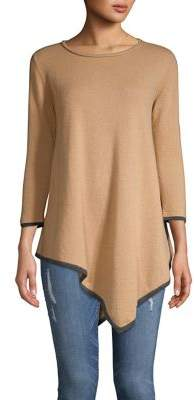 Ply Cashmere Asymmetrical Cashmere Tunic