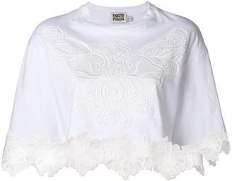 Fausto Puglisi floral lace T-shirt