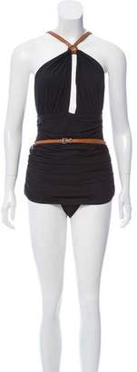 Michael Kors Cutout Belted One-Piece Swimsuit w/ Tags