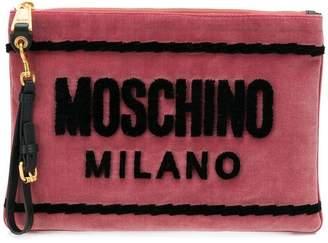 Moschino logo clutch bag