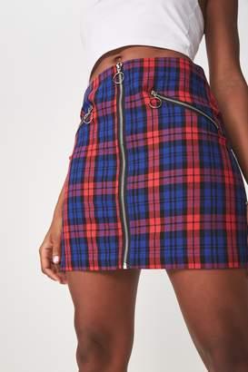 Factorie Zip Front A Line Skirt