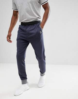 BOSS Contrast Tapered Sweat Joggers In Navy