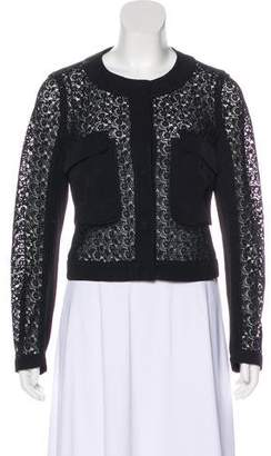 Prada Lace Long Sleeve Jacket
