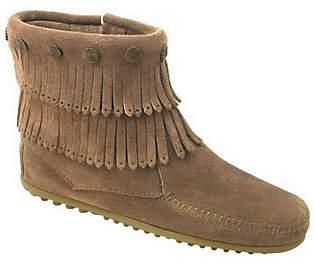 Minnetonka Women's Double Fringe Side-Zip Boots