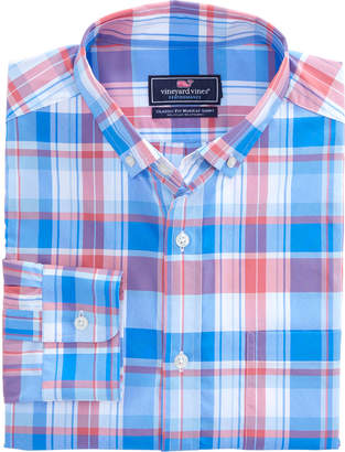 Vineyard Vines Beach Grass Gingham Classic Performance Murray Shirt