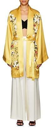 Alice Archer Women's Harmony Floral Silk Long Kimono