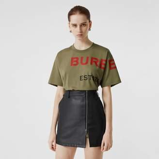 Burberry Horseferry Print Cotton Oversized T-shirt