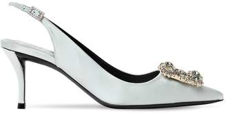 Roger Vivier 65mm Flower Satin Slingback Pumps