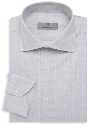 Canali Plaid Dress Shirt