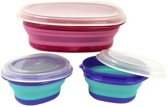Squish 6-pc. Collapsible Food Storage Container Set