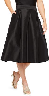 Ronni Nicole Womens Midi Flared Skirt