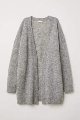 H&M Mohair-blend Cardigan - Gray
