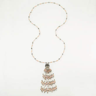 BIJOUX BAR Bijoux Bar Womens Champagne Beaded Necklace