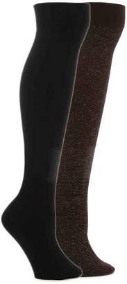 Steve Madden Lurex Over The Knee Socks - 2 Pack - Women's
