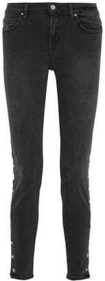 IRO Snap-Detailed Mid-Rise Skinny Jeans