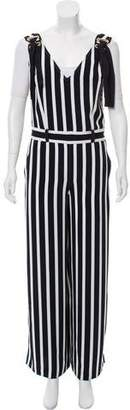 1cc3f64f237 Alberta Ferretti Striped Wide-Leg Jumpsuit