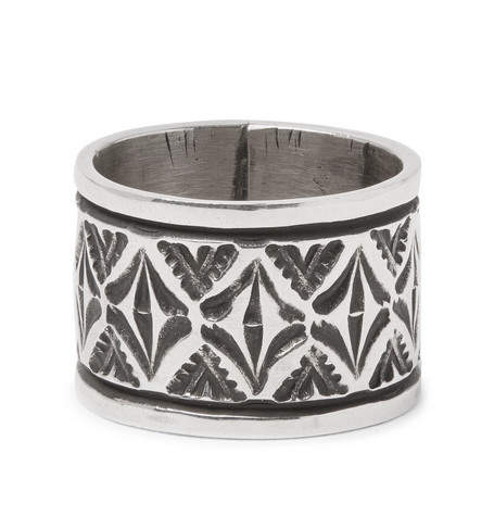 Foundwell Joey Allen Embossed Sterling Silver Ring