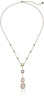 "Judith Jack ""Soft Melody"" Sterling Silver Gold-Tone Marcasite Cherry Quartz Y-Shaped Necklace, 18"" + 2.5"" Extender $168 thestylecure.com"