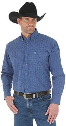 Wrangler Men's Big and Tall George Strait One Pocket Long Sleeve Button Shirt