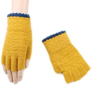 Hii-Yo Women Winter Soft Warm Plush Fleece Fingerless Gloves With Flip Cover Mittens