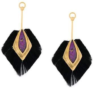 Katerina Makriyianni copper drop earrings