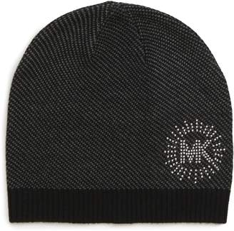 MICHAEL Michael Kors Studded Bird's Eye Beanie
