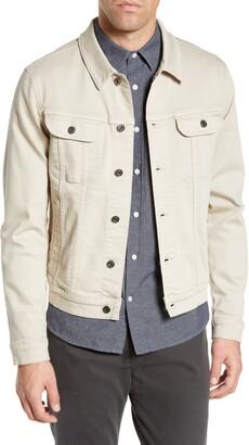 Vince Slim Fit Denim Trucker Jacket