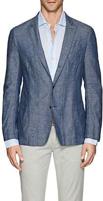 Barneys New York Men's Cotton-Linen Chambray Three-Button Sportcoat