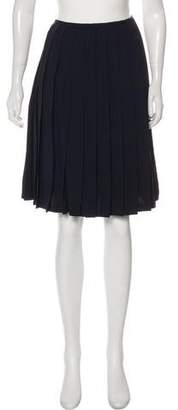 Ellen Tracy Pleated Knee-Length Skirt
