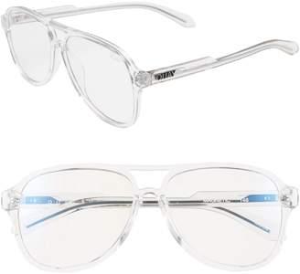 Quay Magnetic 55mm Aviator Fashion Glasses