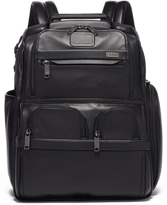 Tumi Alpha 3 Compact Laptop Leather Brief Pack