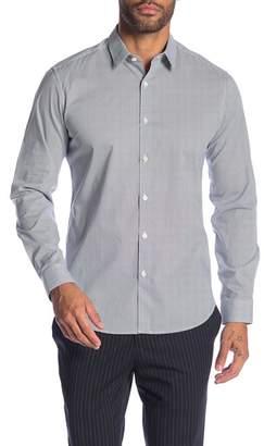 Theory Zack Regular Fit Grid Work Print Sport Shirt