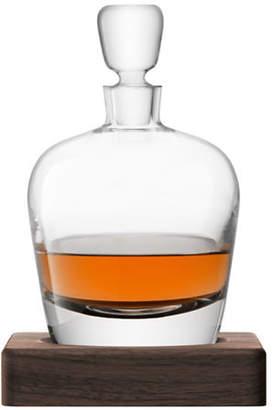Lsa International Whisky Arran Decanter and Walnut Base