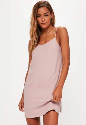 Missguided Pink Slip Dress