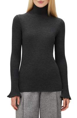 Lafayette 148 New York Rib Knit Merino Wool Sweater
