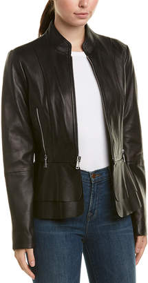 Tahari Thea Leather Jacket