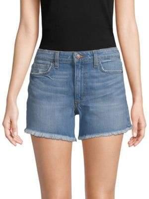 Joe's Jeans Frayed-Hem High-Rise Denim Shorts