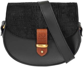 N'Damus London - Victoria Black Cow Fur Cross Body Bag